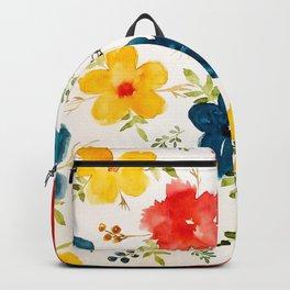 Warm flowers Backpack