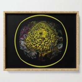 Black Yellow Pink Design Serving Tray