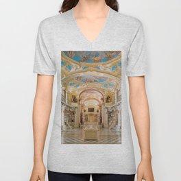 The Magnificent Admont Abbey Library of Admont, Austria Photograph Unisex V-Neck