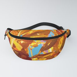 Autumn colors leaves against the blue sky #decor #society6 Fanny Pack