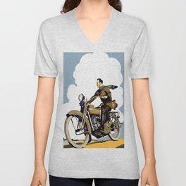The Motorcyclist Unisex V-Neck
