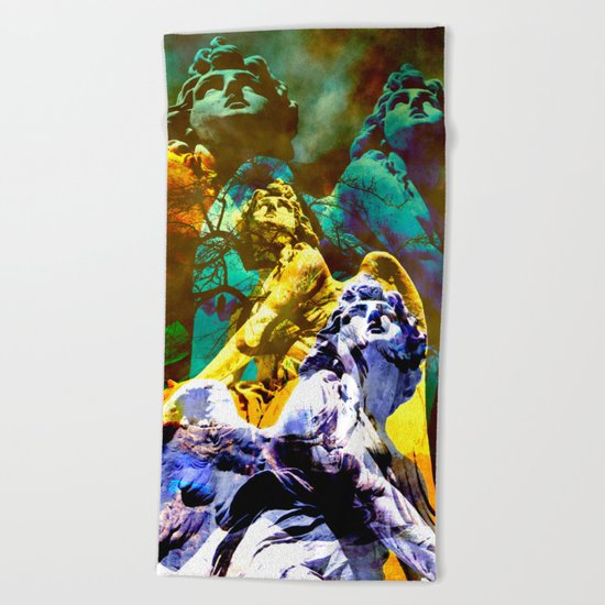 THE ANGELS CALL YOUR NAME Beach Towel