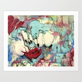 #86 Winning Hearts and Lips in the War Era Art Print