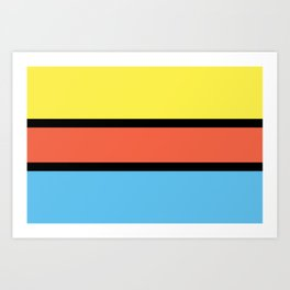 Diversions #1 in Yellow, Orange & Powder Blue Art Print