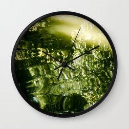 Reflecting Greens Wall Clock