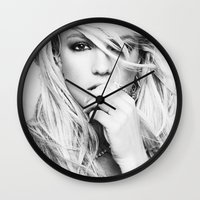 britney Wall Clocks featuring Britney Heart by eriicms