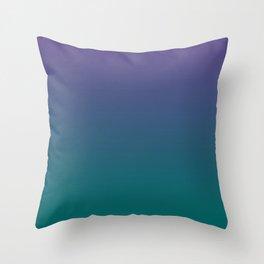 Ultra Violet Quetzal Green Gradient Pattern Throw Pillow