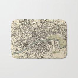 Vintage Map of Glasgow Scotland (1872) Bath Mat