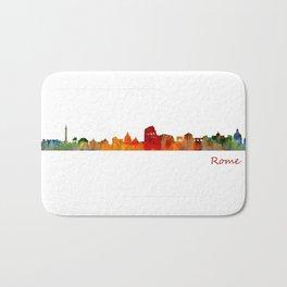 Rome city skyline HQ v01 Bath Mat
