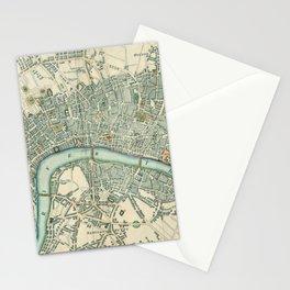 Vintage London Map Stationery Cards