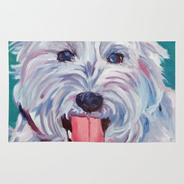 The Westie Kirby Dog Portrait Rug