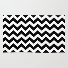 Black Safari Chevron Rug
