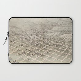 Vintage Pictorial Map of Council Bluffs (1868) Laptop Sleeve