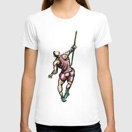 Javelin Throw Athlete Original Digital Drawing T-shirt