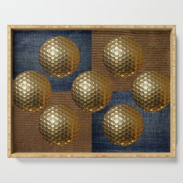 GOLD GOLF Serving Tray