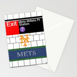 NYC Mets Subway Stationery Cards