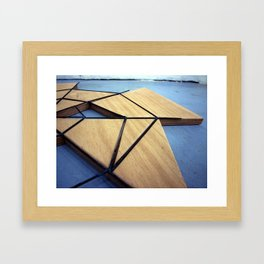 iron and wood Framed Art Print