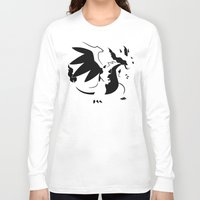 charizard Long Sleeve T-shirts featuring Charizard Mega X by Ruo7in