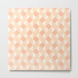 Geometric zigzag pattern Metal Print