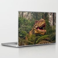 t rex Laptop & iPad Skins featuring T Rex by Shalisa Photography