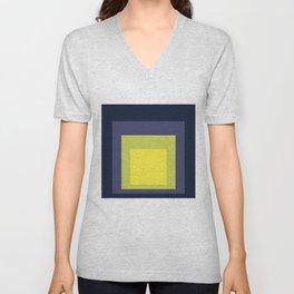 Block Colors - Yellow Green Violet Unisex V-Neck
