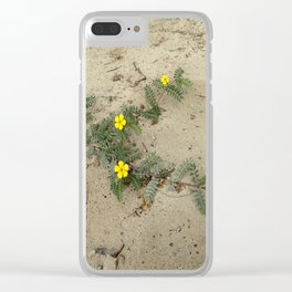 flower on the beach Clear iPhone Case