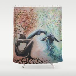 Organic Growth Shower Curtain