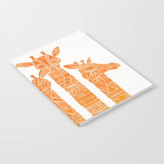 Giraffes – Orange Ombré Notebook