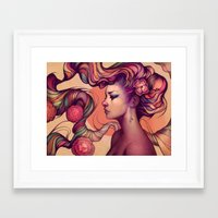 leah flores Framed Art Prints featuring Leah by Megan Lara