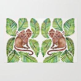 Monkey Cuddles – Tropical Green Rug