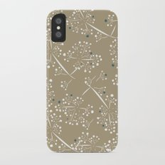 blue dot branches iPhone X Slim Case