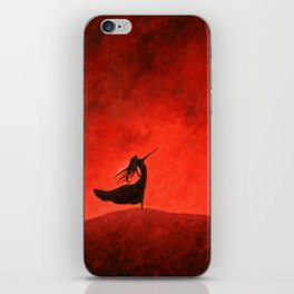 Elated Girl in Red iPhone Skin