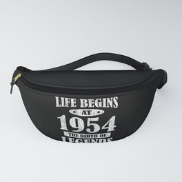 Life Begins At 1954 The Birth Of Legends Birthday Fanny Pack