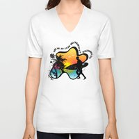 surfing V-neck T-shirts featuring Surfing by mark ashkenazi