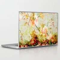 climbing Laptop & iPad Skins featuring climbing flowers by clemm