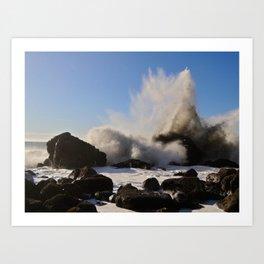 Booming Surf Art Print