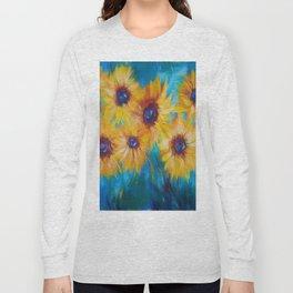 Impressionistic Sunflowers Long Sleeve T-shirt
