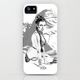 Star Princess Leia Organa as slave and Jabba iPhone Case