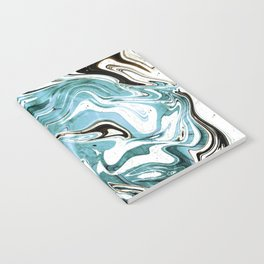 Liquid Teal Marble Notebook