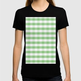 Color of the Year Large Greenery and White Gingham Check Plaid T-shirt