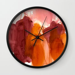 abstract painting X Wall Clock