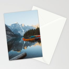 Moraine Lake Canoes Stationery Cards