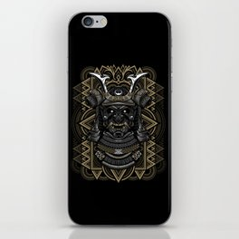 Samurai mask iPhone Skin