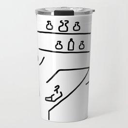 chemists load medicine chemist's shop Travel Mug