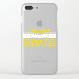 Cheerleading Tee Perfect Gift For Cheerleaders Saying I Cheer So Hard I Sweat Glitter T-shirt Design Clear iPhone Case