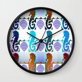 Seahorses & Shells 2 Wall Clock