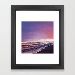 Maui Sunset Pixel Sort Framed Art Print