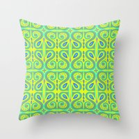 bohemian Throw Pillows featuring Bohemian by katharine stackhouse