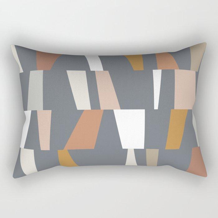 Neutral Geometric 02 Rectangular Pillow