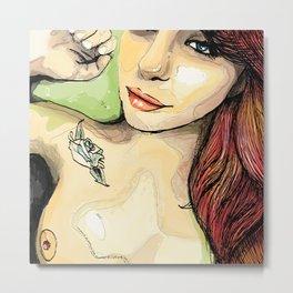 Erotic Portrait Metal Print